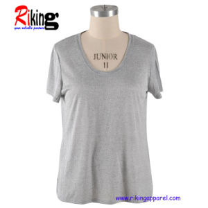 Fashion Women′s Solid Color T-Shirts (RKT1325)