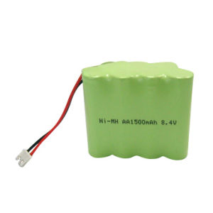 Ni-MH AA 8.4V Rechargeable Battery Pack pictures & photos