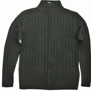 Outsize Men′s Cable Cardigans Sweater