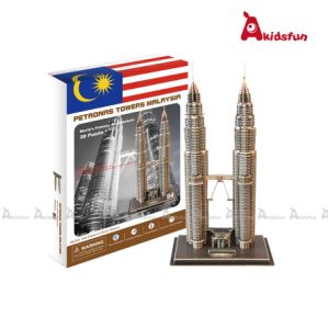 3D Paper Puzzle Petronas Tower Malaysia (LPT-10)