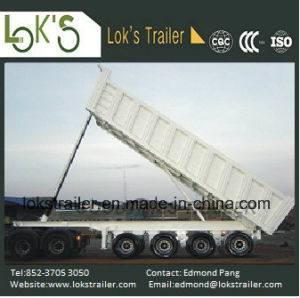 45cbm 4 Axles Hydraulic Tipper Semi Trailer pictures & photos