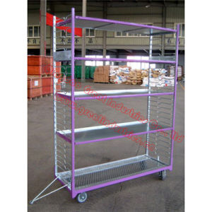 Tc2159, Flower Rack, Flower Pot Trolley, Flolding Cart, Garden Trolley, Foldable Container, Trolley Cart