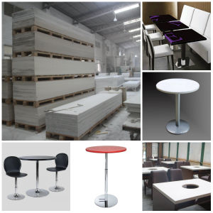 Corian Restaurant Dining Table Furniture Acrylic Solid Surface Panel pictures & photos