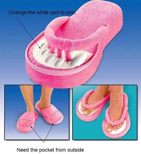 Jobar′s Memory Foam Pedicure Slippers (HK-MSL-003)