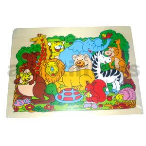 Wooden Zoo Animals Puzzle (80896) pictures & photos