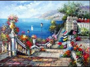 100% Handmade Decoration Abstract Oil Painting (DZ-066)