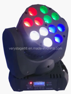12*10W CREE RGBW 4-in-1 LED Stage Moving Head Beam Light pictures & photos