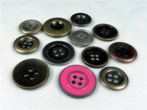 Lead Free Nickle Free Garment Four Holes Metal Shirt Button pictures & photos