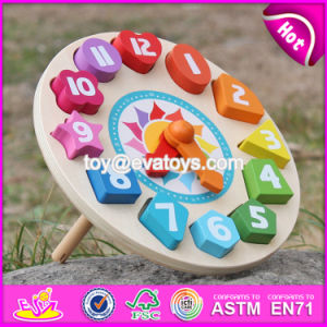 New Design Children Educational Numbers Toy Wooden Clock Puzzle W14k005 pictures & photos