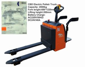 2 Ton Electric Pallet Truck with SGS Certification pictures & photos