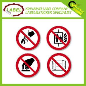 Custom Vinyl Adhesive Prohibition Sign Label