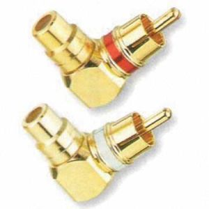 90 Degree RCA Male to Female Connector Adapter pictures & photos