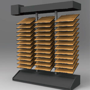 China laminate flooring display stands exhibition shelf for Laminate flooring displays