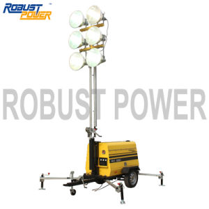 Portable Industrial Light Fixtures Ball Hitch Mobile Lighting Tower pictures & photos