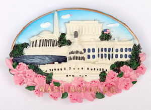 OEM Washington DC Polyresin Fridge Magnet for Souvenir (PMG010) pictures & photos