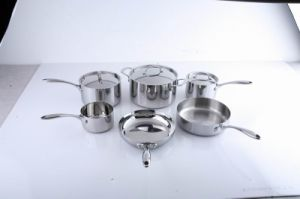 Tri-Ply Stainless Steel 9-Piece Cookware Set pictures & photos