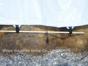 14′ X 52′ 16 Mil Polyethylene White/Silver Hay Tarp pictures & photos