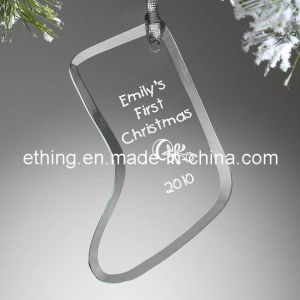 Personalized Stocking Glass Christmas Tree Ornaments for Souvenir Gift pictures & photos
