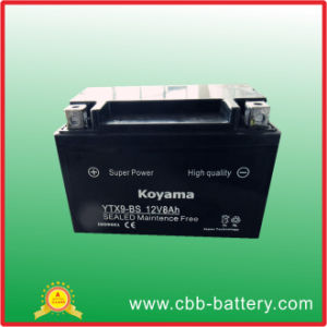 Motor Battery Ytx9-Bs-12V8ah pictures & photos