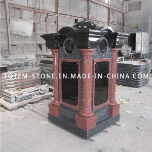 Indian Red Granite Stone Mausoleum Columbarium for Cemetery pictures & photos