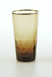 Gold or Silver Line on Solid Color High Ball Glass Cup (D04A-076) pictures & photos