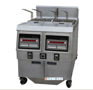 Electric Open Fryer Two Tanks (OFE-322) pictures & photos