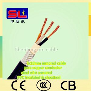 16sq mm Low Voltage 3 Core Armored Cable PVC Material