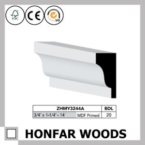 20X30mm MDF Primed Cornice Crown Moulding for Hotel Building pictures & photos