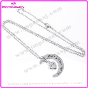 Heart with Moon Design Memorial Necklace Cremation Jewelry Pendants Stainless Steel pictures & photos