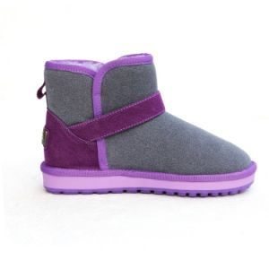 Latest Women Buckle Winter Shoes Mixed Color Boots for Girls Leather Boots pictures & photos