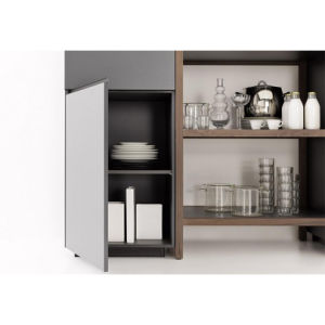 Modern White Matt Lacquer Modern Kitchen Cabinet with Breakfast Bar pictures & photos