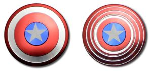 Creative Captain America Shield Hand Spinner Iron Man Fidget Alloy Puzzle Fidget Spinner pictures & photos