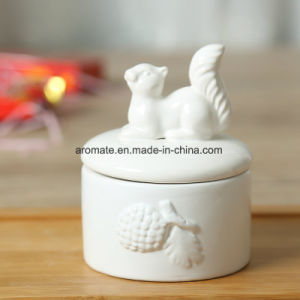 White Cute Ceramic Round Jewelry Storage Box (CC-18) pictures & photos