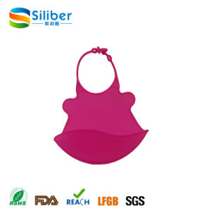 Waterproof Silicone Bibs Easily Wipes Clean Comfortable for Baby/Infant pictures & photos