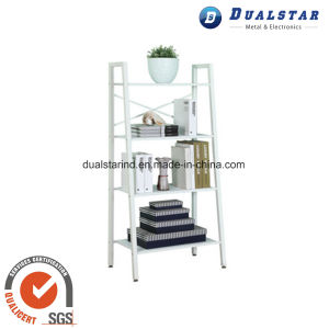 White Multilayer Iron Book Rack