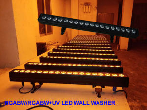 6in1 Color Wash Change 18PCS Rgabwuv Disco Party Wedding Lighting pictures & photos