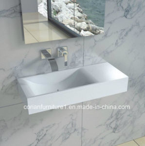 Hi Macs Solid Surface Custom Sized Bathroom Hand Washing Basin pictures & photos