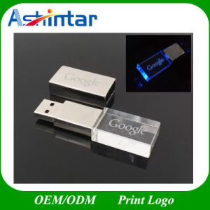 USB3.0 Metal USB Flash Disk LED Crystal USB Flash Drive pictures & photos