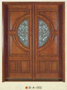 Solid Wood Double Door with Glass (DS-334) pictures & photos
