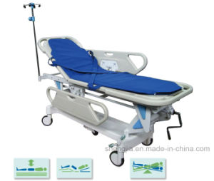 Sjm002-C New Style Luxurious Electric Rise-and-Fall Stretcher Cart pictures & photos