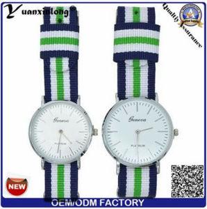 Yxl-548 Fashion Men Women′s Couple Nylon Band Analog Quartz Wrist Watch pictures & photos