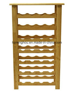 New Modern Wood 28 Bottle Wine Display Rack for Home pictures & photos