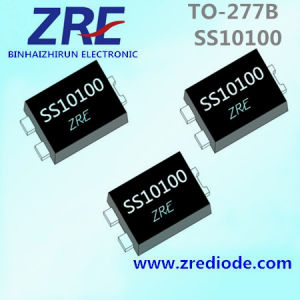 10A Ss1040 Thru Ss10100 Surface Mount Schottky Barrier Rectifier Diode to-277b Package pictures & photos