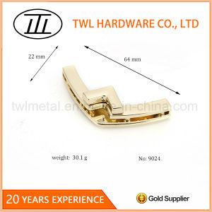 Gold Arrow Shaped Hardware Handbags Metal Turn Lock Bags Twist Lock pictures & photos