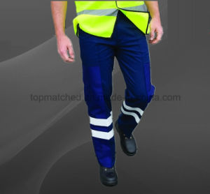 Custom Logo Printing Work High Visibility Safety Cotton Pants pictures & photos