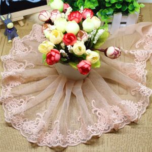 Factory Stock Wholesale 13cm Width Embroidery Nylon Lace Polyester Embroidery Trimming Fancy Lace for Garments Accessory & Home Textiles & Curtains pictures & photos
