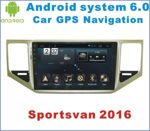 Android System 6.0 Car GPS Navigation for Sportsvan with Car DVD Player