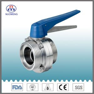 Plastic Multiposition Handle Stainless Steel Male Threaded Butterfly Valve (SMS-RD2320) pictures & photos