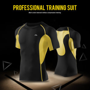 Men′s Dry Fit Compression Short T-Shirt Cycling Wear Sport Training Tops pictures & photos