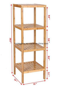 Bathroom Shelf 4 Tier Multifunctional Wooden Shower Caddy pictures & photos